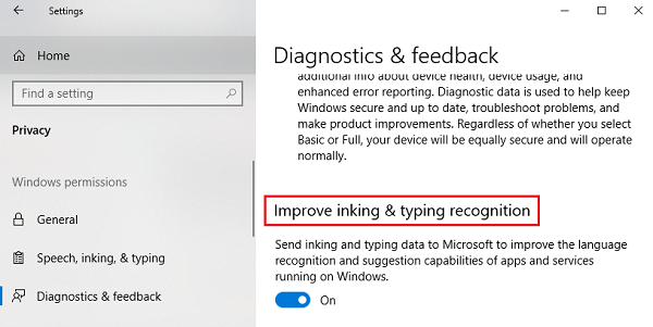 Improve inking & typing recognition