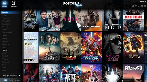 Popcorn Time lets you watch movies and TV shows without downloading