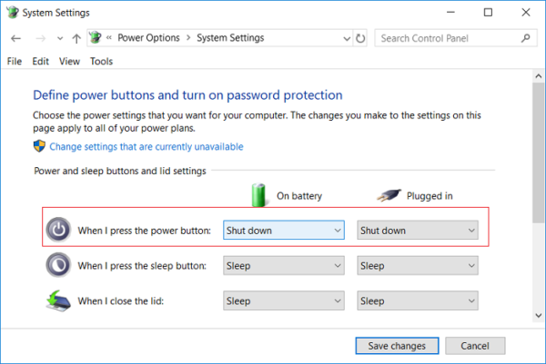 How to disable Update and Shutdown in Windows 10