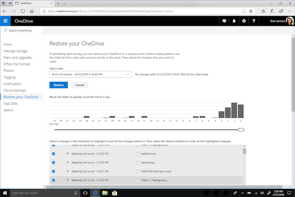 Restore Your OneDrive