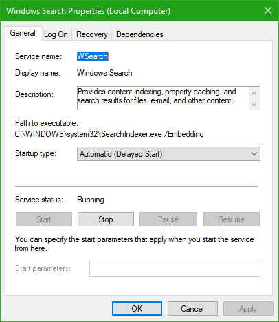 SearchIndexer.exe High Disk or CPU usage