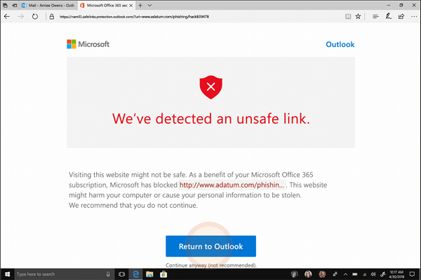 Advanced protection capabilities for Office 365