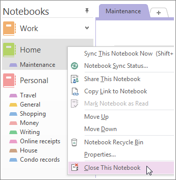 delete OneNote notebook from OneDrive