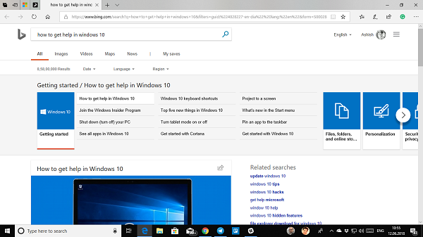 Get help in Windows 10 continuously popping up