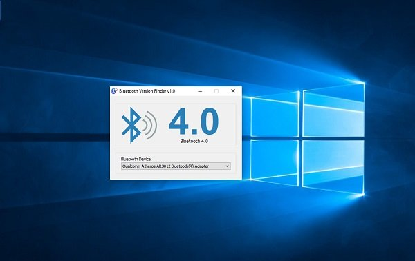 how to check bluetooth version in windows 10