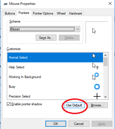 Mouse Pointer lags or freezes