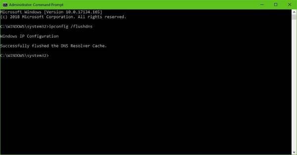 Flush DNS from the command line.
