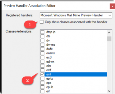 Preview EML files in Windows File Explorer with Preview Handler Association Editor