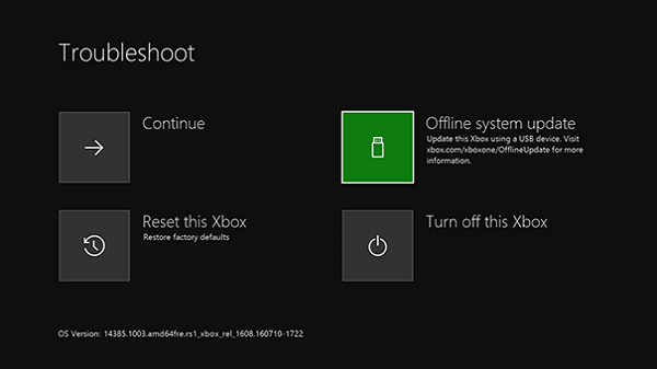 Update Xbox One Offline Mode