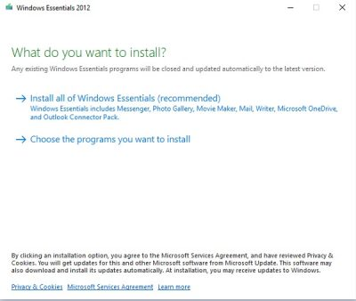 Download Windows Live Essentials for Windows 10