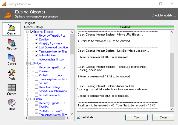 Eusing Cleaner for Windows PC