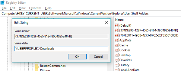 Accidentally merged downloads Library to another drive or folder