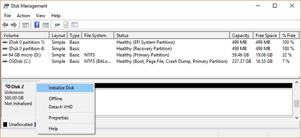 Troubleshooting common Disk Management error messages