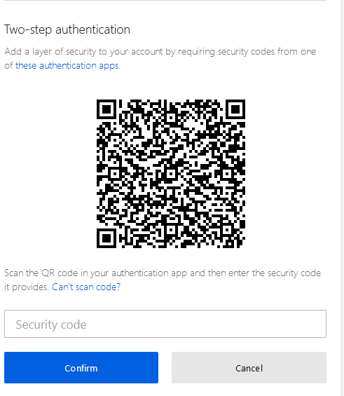 Two Step Authentication in Mozilla Firefox for Windows 10