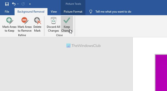 Remove the Background of a Picture with Microsoft Word