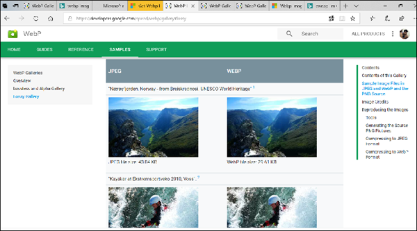 add WebP support to Microsoft Edge
