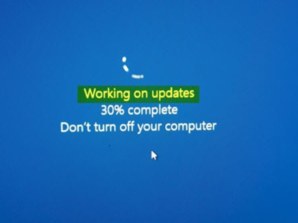 Pc stuck updating software updating definition