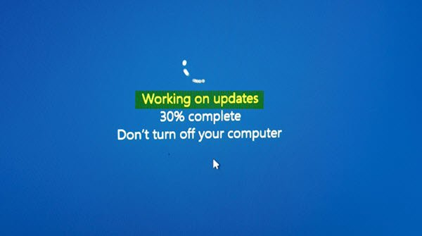 Windows 10 stuck on Working on updates