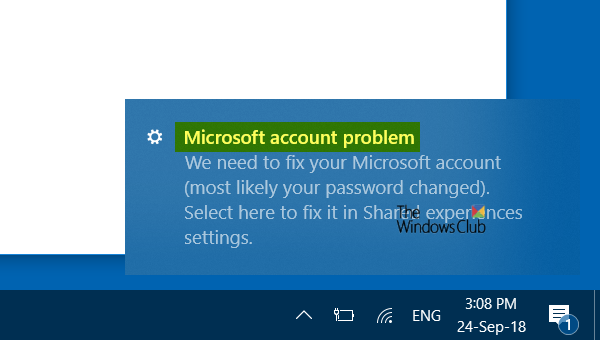 Microsoft account problem, We need you to fix your Microsoft account