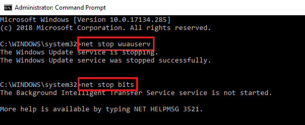 Stop WU services