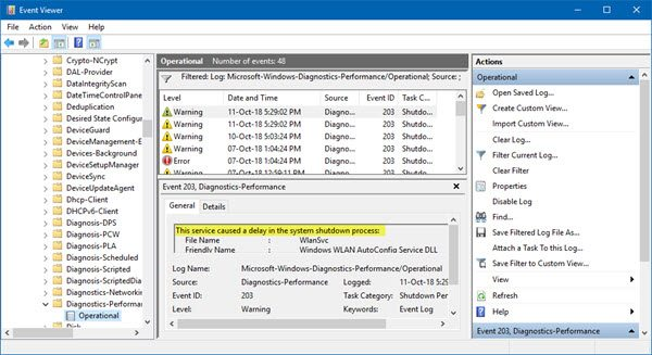 Locate Windows Services that delay Startup