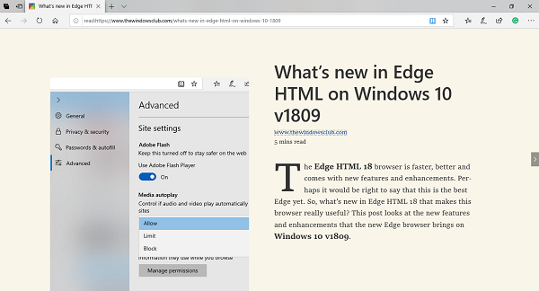 Learning Tools on Microsoft Edge