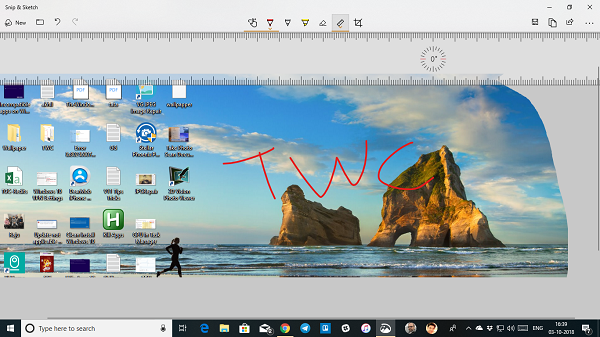 Snip and Sketch Editing Tool Windows 10