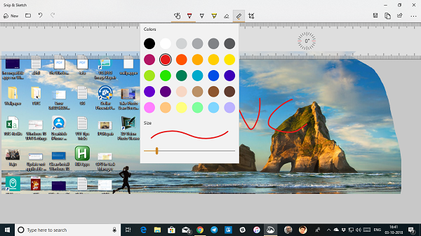 Snip and Sketch Windows 10 Tools