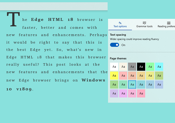 Text Options Learning Tools Microsoft Edge