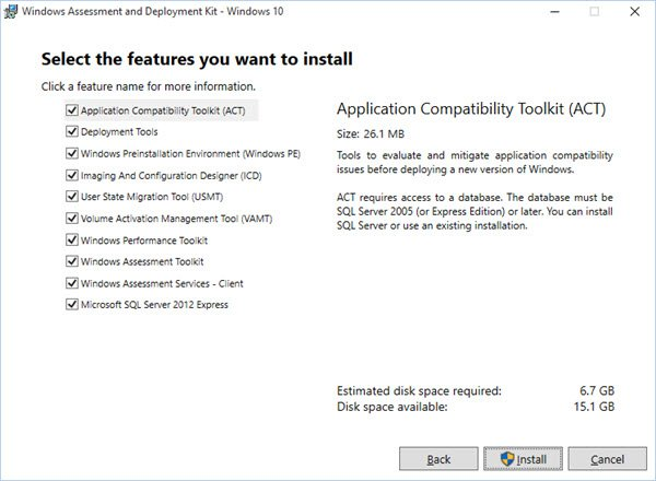 Windows ADK for Windows 10 v1809