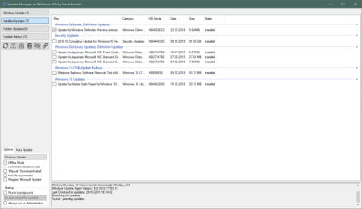 WuMgr Update Manager for Windows 10