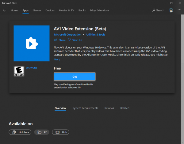 How to play AV1 videos on Windows 10