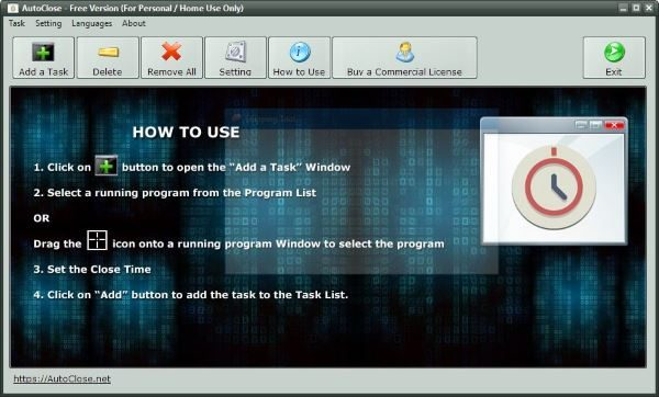 How to automatically close a Program in Windows using AutoClose