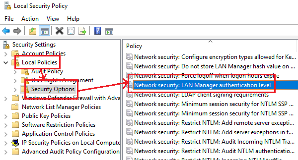 Change Network security policy