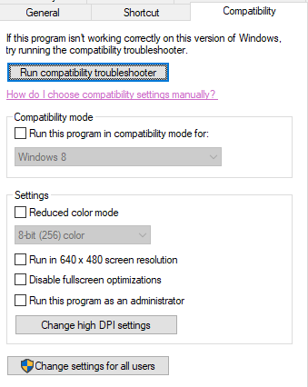 Compatibility Troubleshooter for Windows