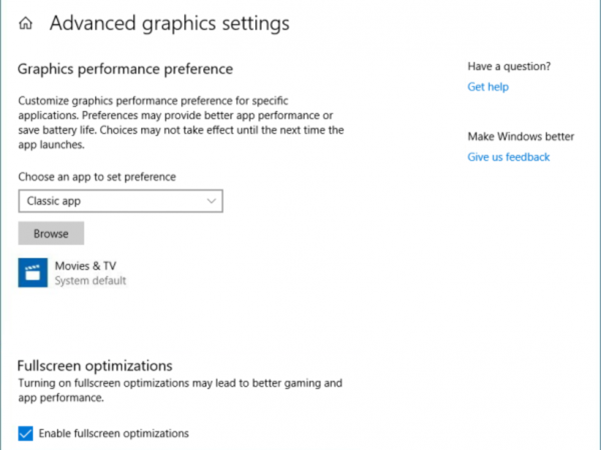 How To Enable Or Disable Full Screen Optimizations On Windows 10