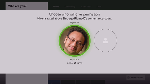 Parent Permission to UnBlock Mixer for Kids on Xbox One