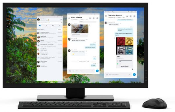Split View in Skype on Windows 10