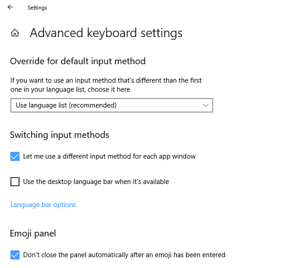 Windows 10 keyboard language changes on its own