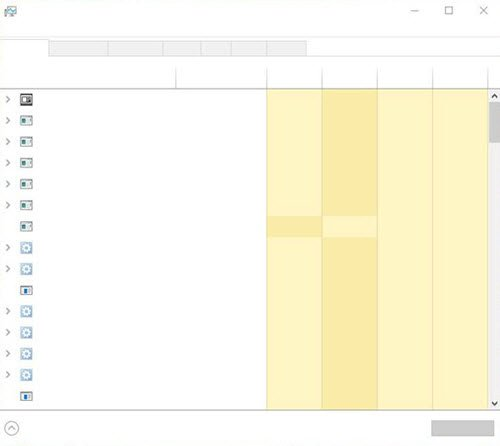 Task Manager is blank