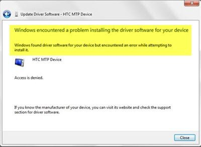 Windows Encountered A Problem Installing The Driver Software For Your Device