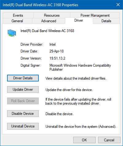 re install wifi driver