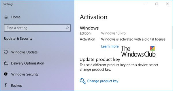 windows activation