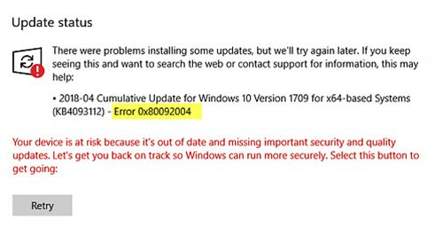 s non your hardware or installed driver software Fix Windows Update mistake 0x80092004