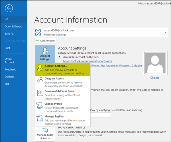 How to change how much mail to keep offline in Outlook