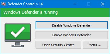 roughly users powerfulness desire to dice along using their favorite 3rd Disable Windows Defender permanently on Windows 10 using Defender Control