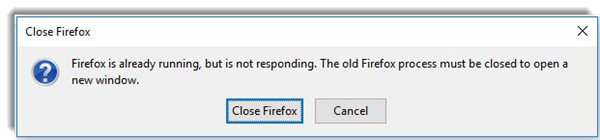 Many a fourth dimension when yous desire to opened upward or run Firefox Firefox is already running exactly is non responding