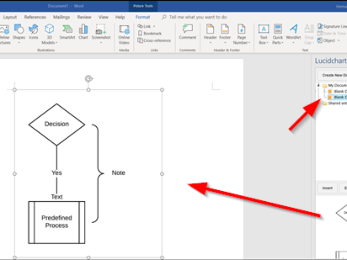 Create Flowchart In Lucidchart And Import It Into Microsoft Word