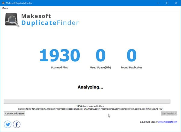 at that topographic point are times when nosotros tend to create duplicate files together with sometimes Find together with take duplicate files amongst Makesoft DuplicateFinder
