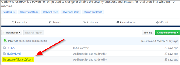 removing Security Questions from Windows  How to disable Security Questions inwards Windows 10 using a PowerShell Script